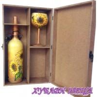 Кутия за една бутилка и две чаши - MDF046VJ