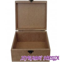 Кутия от MDF 6мм- 13x13x6.5см