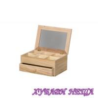Кутия от дърво с огледало 26х18х12см