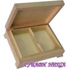 Дървена кутия за карти- 15,5x12x4,5см.