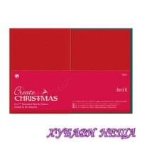 PMA 151902 К-кт заготовки за картички с пликове- Red & Green 13x18см 10бр