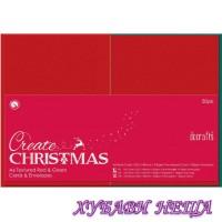 PMA 151904 К-кт заготовки за картички с пликове- Red & Green 10x15см 10бр