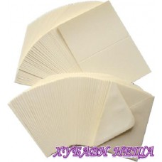 DCCE002 Комплект заготовки за картички с пликове- Ivory 21x10см 10бр