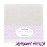 """DCCE006 Комплект заготовки за картички с пликове-Перла 6""""x6"""" 8бр"""