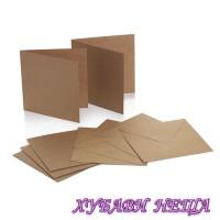 """DCCE071 К-кт заготовки за картички с пликове-Kraft 6x6"""" 10бр"""