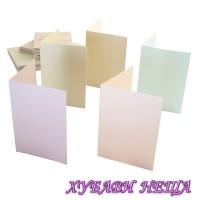 К-кт заготовки за картички с пликове-Пастелни цветове 10x15см 10бр