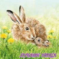 Салфетка- 403 Hare Family