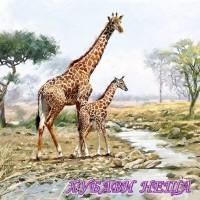 Салфетка- 466 Giraffes
