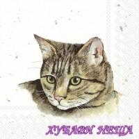 Салфетка- Фермерски Котки 922