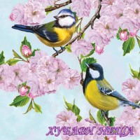 Салфетка- 016 Cherry Blossom Twig