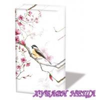 Салфетка- 300 Bird & Blossom white