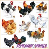 Салфетки за декупаж- 515 Пилета