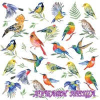Салфетка- 528 Birds Votes