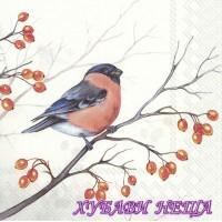 Салфетка за декупаж- 562 Замечтана зимна птица