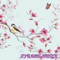 Салфетка- 1303 Bird & Blossom blue