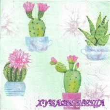 Салфетка- 040 Flowering Cactuses 1бр