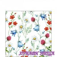 Салфетка- 237 Mixed Wild Flowers white