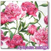 Салфетка- 1150 Pink Peonies