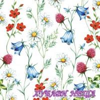 Салфетка- 1199 Mixed Wild Flowers White