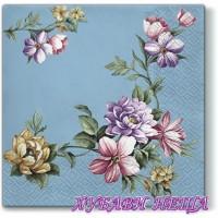 Салфетка- 1480 Elegant Garland blue 1бр