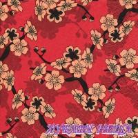 Салфетка- 1509 Asian flowers
