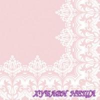Салфетка- 072 Ornament Border Pink