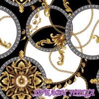 Салфетки за декупаж- 169 Златни Барокови Розетки в Кръгове