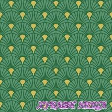 Салфетка- 886A Арт Деко зелено/златно