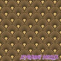 Салфетка- 886 Арт Деко черно/златно