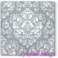Салфетка- 1159 Beautiful Moments silver 1бр