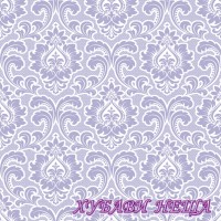 Салфетка- 1631A Wallpaper Pattern lavender