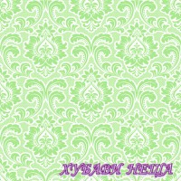 Салфетка- 1632A Wallpaper Pattern mint