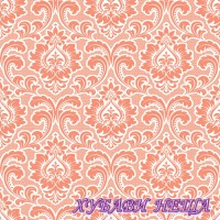 Салфетка- 1632 Wallpaper Pattern salmon