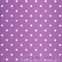 Салфетка- 1869 Hearts and Dots lila
