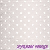 Салфетка- 1872 Hearts and Dots silver