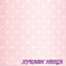 Салфетка- 1874 Hearts and Dots pink