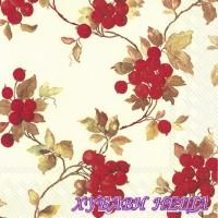 Салфетка- 1084 Red Berries cream