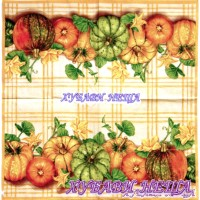 Салфетка- 1129A Pumpkin Plaid yellow