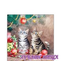 Салфетка за декупаж- K010A Магията на Коледа