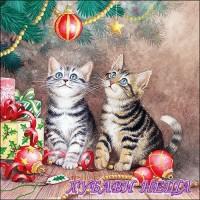 Салфетка за декупаж- K010 Магията на Коледа