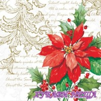 Салфетка- K018 Stylish Poinsettia