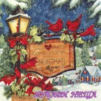 Салфетка- K052 Come Home for Christmas