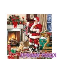 Салфетка за декупаж- K065 Коледен Интериор