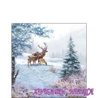 Салфетка- K074A Deer Family 1бр
