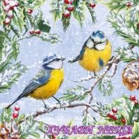 Салфетка- K077 Chirping Birds