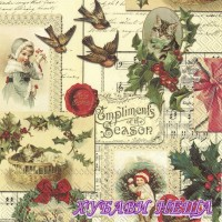 Салфетка- K148 Compliments of the Season