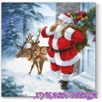 Салфетка- K176 Santa is coming