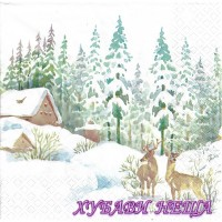 Салфетка- K298 Зимна Сцена