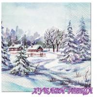 Салфетки за декупаж- K365 Зимно Село