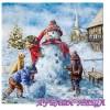 Салфетки за декупаж- K366 Забавен Снежен Човек